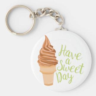 Sweet Day Basic Round Button Keychain