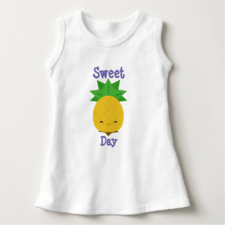 Sweet day pineapple baby sleeveless dress