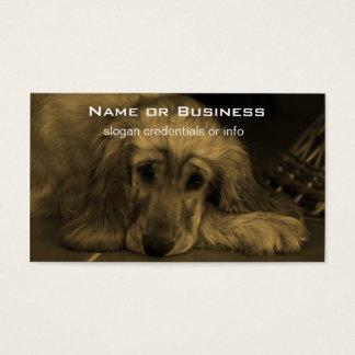 Sweet Dog - Golden Retriever in Sepia Tones Business Card