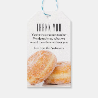 Sweet Donut Thank You Gift Tag