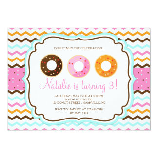 Sweet Doughnuts Birthday Party Card