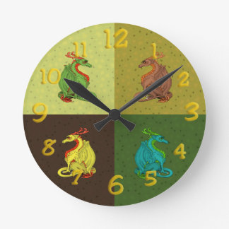 Sweet Dragon Collection Round Clock