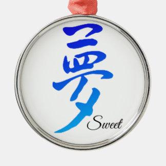 Sweet Dream Silver-Colored Round Ornament