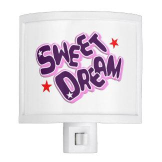 Sweet Dream Typography Night Light