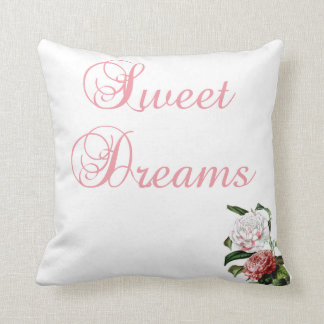 Sweet Dreams And Flowers Throw Pillow