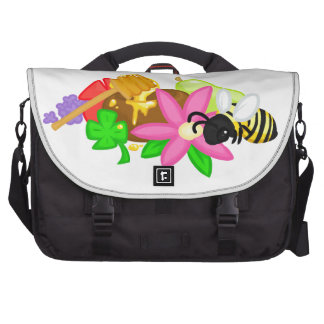 Sweet Dreams Are Made by Bees (no text) Laptop Messenger Bag