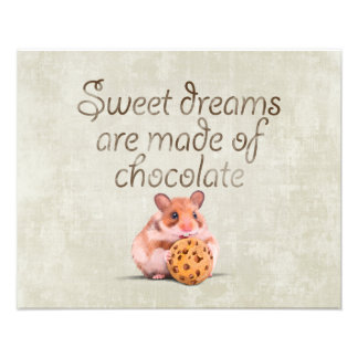 Sweet dreams are made of chocolate photo print
