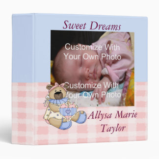 Sweet Dreams Baby Book / Bimder 3 Ring Binder