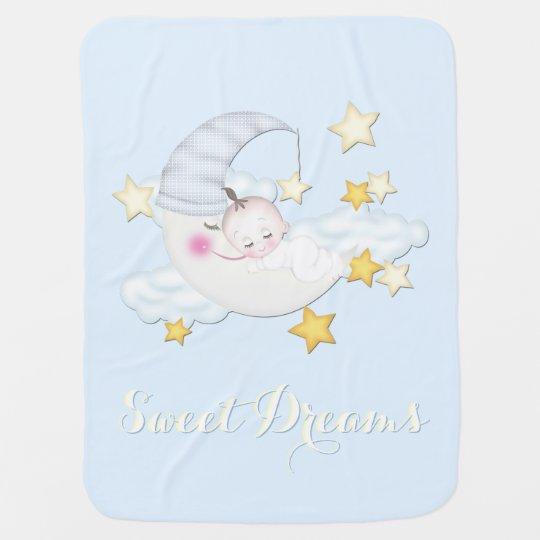 Sweet Dreams Baby Boy Stroller Blanket