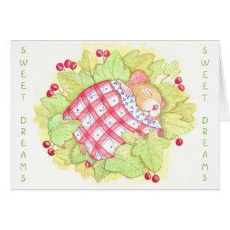 Sweet Dreams blank greeting card. Card