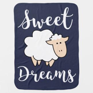 Sweet Dreams Cartoon Sheep Baby Blanket