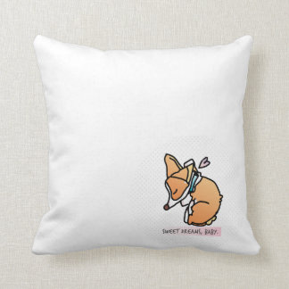 sweet dreams, corgi baby. pastel blue pillow. throw pillow