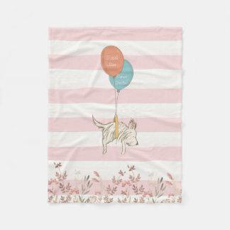 Sweet Dreams floating Above the Meadow Fleece Blanket