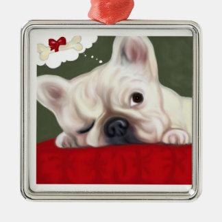 Sweet Dreams French Bulldog Metal Ornament