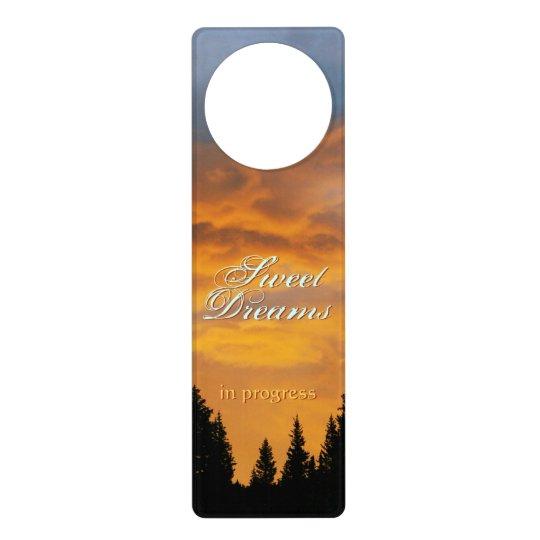 Sweet Dreams Golden Sky Door Hanger