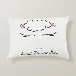 Sweet Dreams, Lamb face, personalized with prayer Decorative Pillow