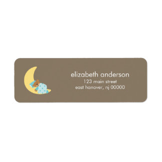 Sweet Dreams Lullaby Boy Baby Shower Return Address Label