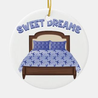 Sweet Dreams Round Ceramic Ornament
