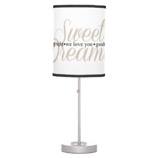 Sweet Dreams Sleep Tight Nursery Quote Lamp