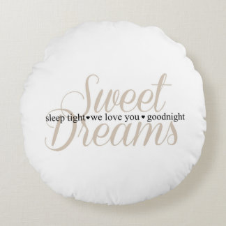 Sweet Dreams Sleep Tight Nursery Quote Pillow