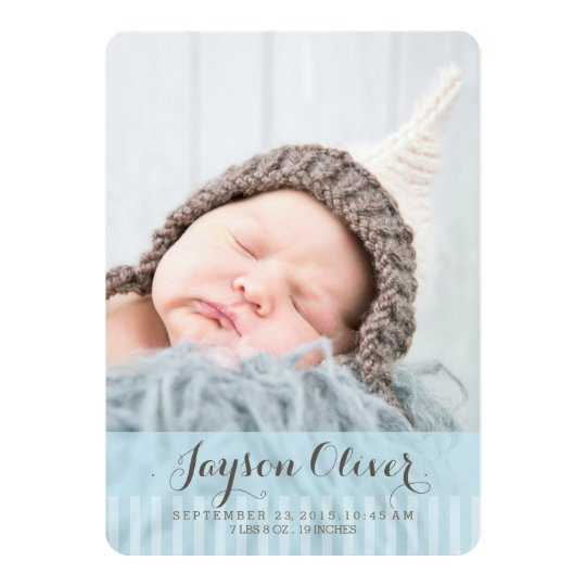 Sweet Dreams Two Photo Modern Birth Announcement