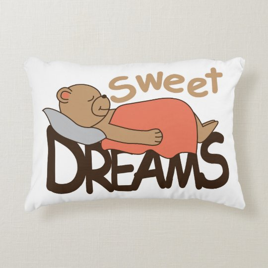 Sweet dreams wish design decorative pillow