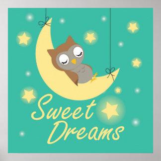 Sweet Dreams wish design. Poster