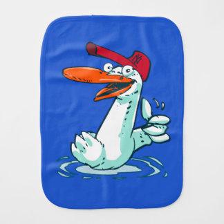 sweet duck on the lake cartoon burp cloths