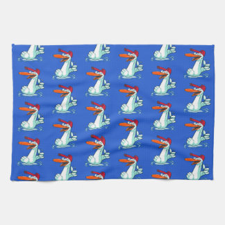 sweet duck on the lake cartoon hand towels