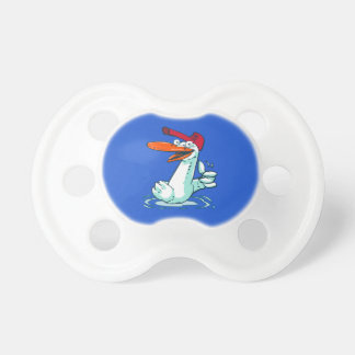sweet duck on the lake cartoon pacifier