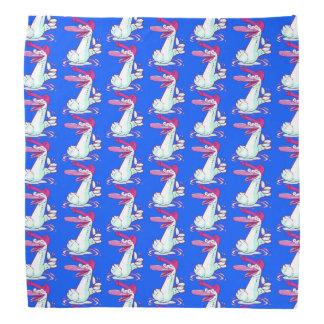 sweet duck on the lake pink tint cartoon bandana