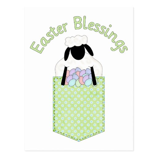 Sweet Easter Lamb Tees and Gifts Post Card