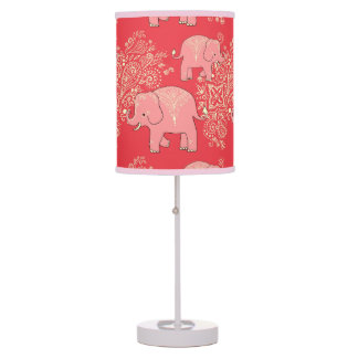 sweet elephant table lamp, nursery decor, coral table lamp