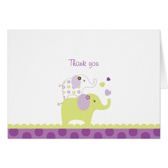 Sweet Elephant Thank You Note Cards