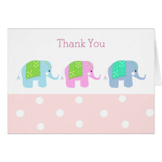 Sweet Elephants Thank You Card