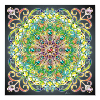 Sweet Explosion Mandala Photo Print