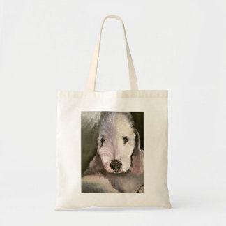Sweet-Eyed Bedlington Terrier Tote Bag