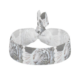 Sweet Faced White Tiger Hair Tie