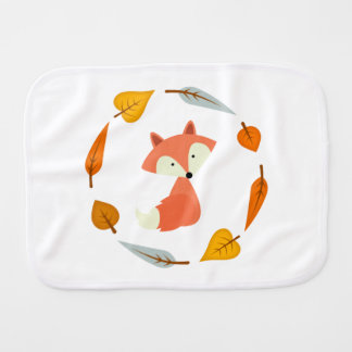 Sweet Fall Fox Burp Cloth