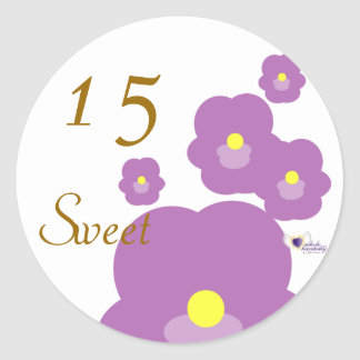 Sweet Fifteen February's Birth Flower-Cuctomize Round Sticker