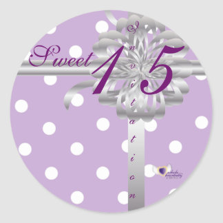 Sweet Fifteen Invitation! Sticker-Customize Classic Round Sticker