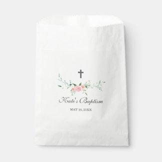 Sweet Floral Baptism Favor Bags