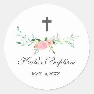 Sweet Floral Baptism Sticker