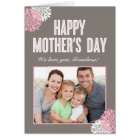 Sweet Florals Mothers Day Photo Card