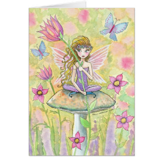 Sweet Flower Garden Fairy Card