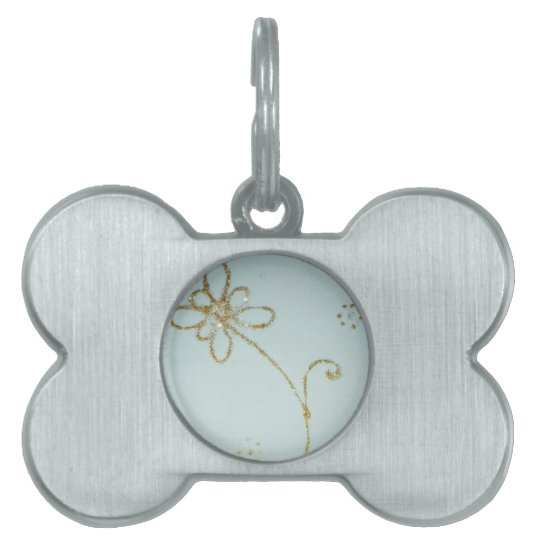 Sweet flower pet ID tag