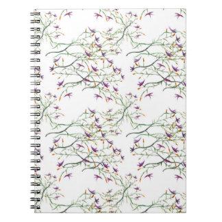 sweet flowers spiral notebook