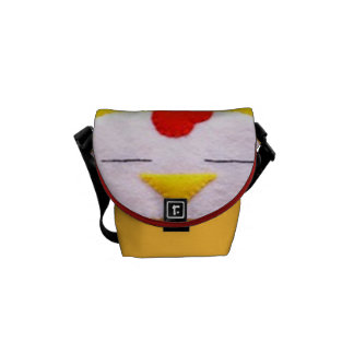 Sweet fluffy chicken messenger bag