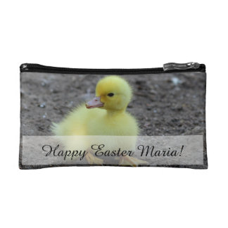 Sweet Fluffy Duckling Yellow Cosmetic Bag