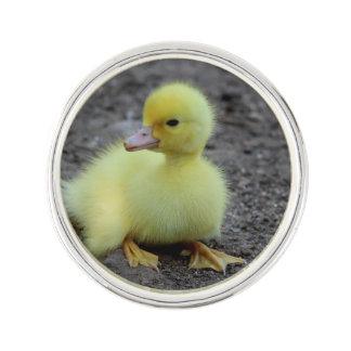 Sweet Fluffy Duckling Yellow Lapel Pin